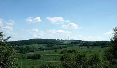 Der 636m hohe Eisenberg im Knüll - Bild aus Wikipedia