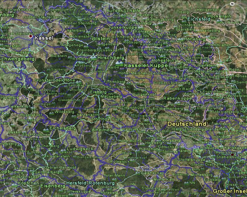 Screenshot des Fulda-Werra-Berglandes