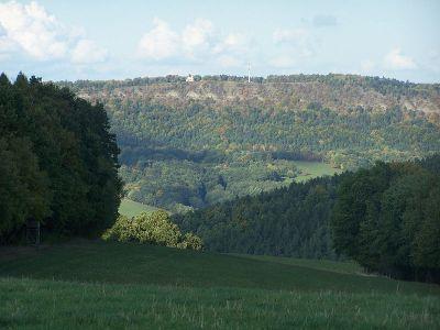 Die Hörselberge mit dem 484m hohen Großen Hörselberg - Bild aus Wikipedia