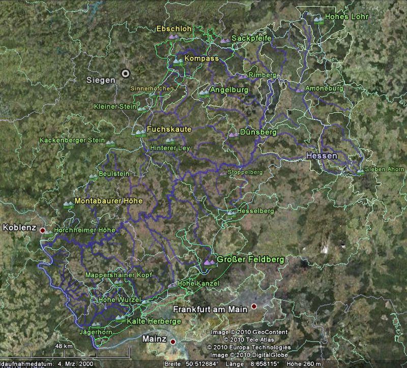 Screenshot des Systems der Lahn mit Randbergen
