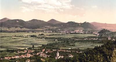 Das Siebengebirge um 1900 - historisches Bild aus der Wikipedia